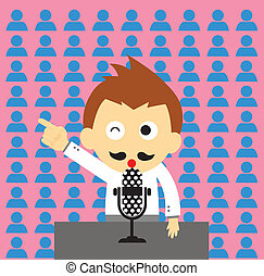 orator vector cartoon style for use
