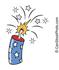 4th of july fireworks - Exploding - Drawing Art of 4th of...