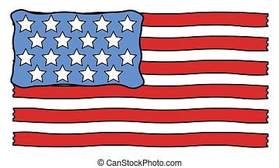 USA Flag cartoon vector