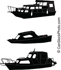boats collection - vector - illustration of boats collection...