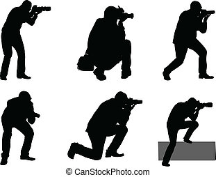 photographers - vector - illustration of photographers -...