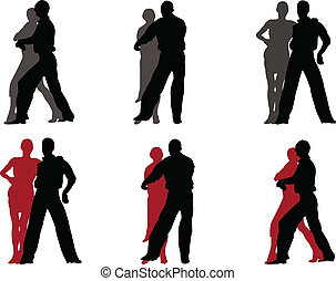 tango couple 2 - vector - illustration of tango couple -...