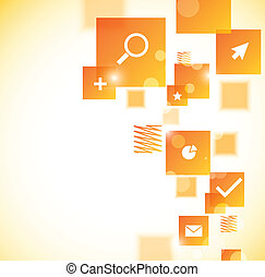 Abstract template with squares. Bright illustration