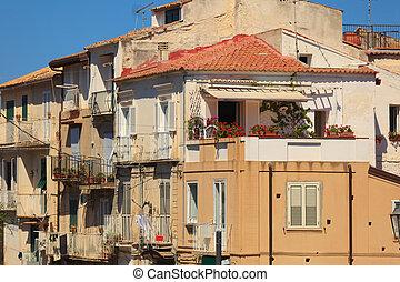 Architecture in Tropea - Dense architecture in Tropea,...