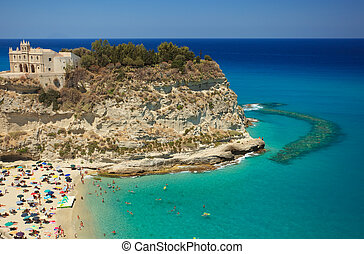 Scenic view in Tropea - Scenic landscape with beach and...