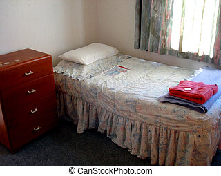 College Dormitory - Simple furnishings of a College Room