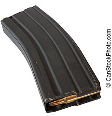 Loaded up - Metal magazine for an assualt rifle with...