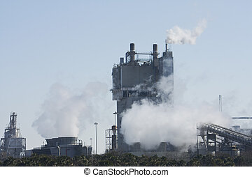 steam cooling towers from power production at a paper mill