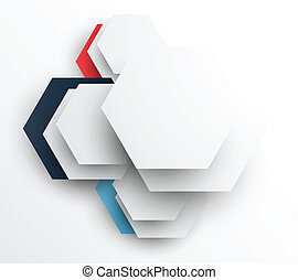 Design template with hexagons. Abstract illustration