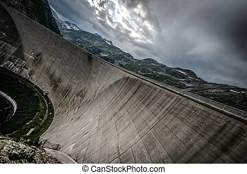 Kaprun - Kaprun dam wall-the highest power plant in Austria....
