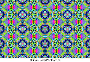 Gometric seamless pattern - Digital computer graphic