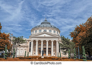 The Romanian Athenaeum in Bucharest, Romania. Opened in 1888...