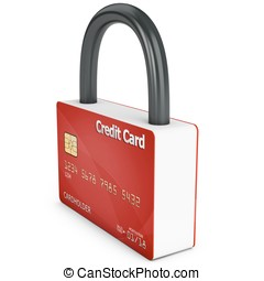 3d credit card with security lock