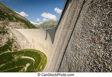 Kaprun dam wall-the highest power plant in Austria