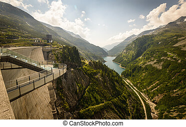 Kaprun dam - Kaprun dam wall-the highest power plant in...
