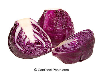 Red Cabbages - Isolated image of red cabbages