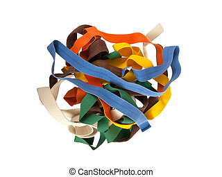 Collection of belts isolated on a white background