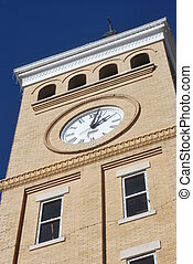 Saline County Courthouse - Clock Tower on Saline County...
