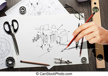 Architectural project - Architectural hand drawn project...