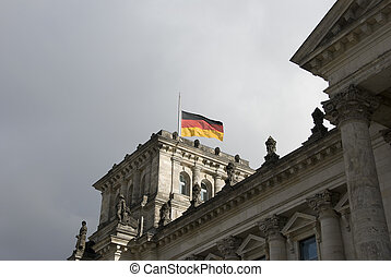 reichstag berlin - parliment building in german city Berlin