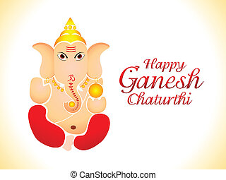 abstract ganesh chaturthi wallpaper vector illustration