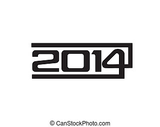 abstract new year text vector