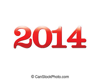 abstract glossy new year text
