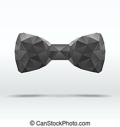 Black abstract fashion bow tie - Black beautiful abstract...