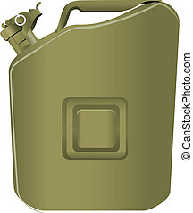 Canister of gasoline - The steel canister of gasoline army...