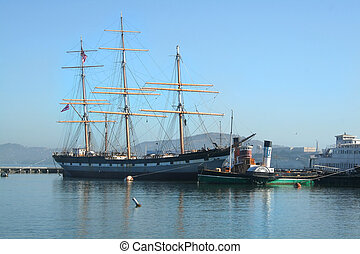 Balclutha San Francisco Bay - The tall ship Balclutha at the...