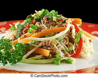 Beef Chow Mein - Stirfry beef chow mein with fresh Chinese...