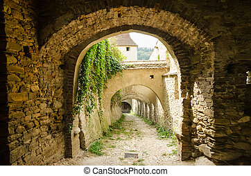 Corridor To Castle Dungeon - Stone Corridor To An Ancient...