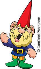 Angry Gnome - Vector illustration of an angry gnome.