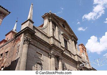 Alcala de Henares - Church facade in Alcala de Henares,...