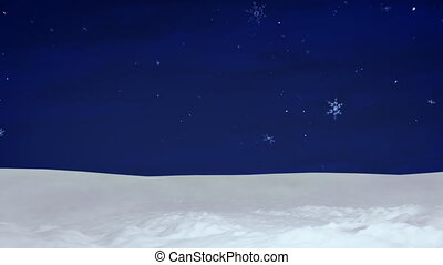Christmas snow and sky background