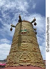 Golden roof of a lamasery in Tibet
