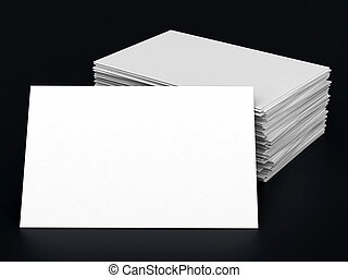 Business cards blank mockup - template - black background