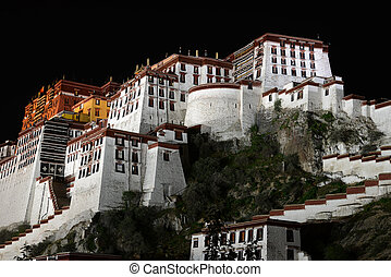 Potala Palace in Tibet - Night scenes of the famous Potala...