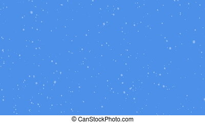 Snow on blue sky background