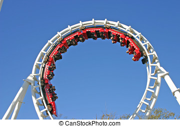 Roller Coaster 3 - The thrills of a full 360 degree looping...