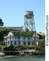 Ruins Of Alcatraz - The ruins of the officers club with the...