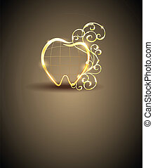 Abstract golden tooth - Dental sign, brochure design. Clean...