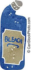 retro cartoon bleach bottle - Retro cartoon illustration. On...