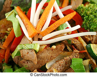 Beef Stirfry - Stirfry beef and vegtables with a purple...