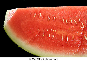 Watermelon Slice - Close up of a section of a slice of...
