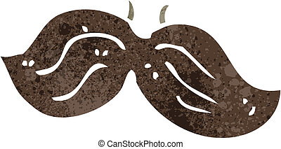 retro cartoon fake mustache - Retro cartoon illustration. On...