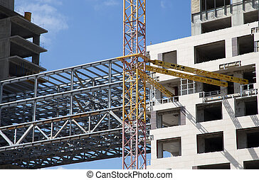 Construction site. Industrial image -construction of...