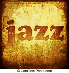 jazz word music background
