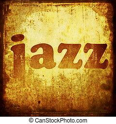 jazz word music background
