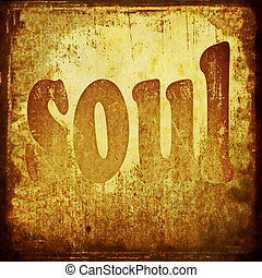 soul word music background